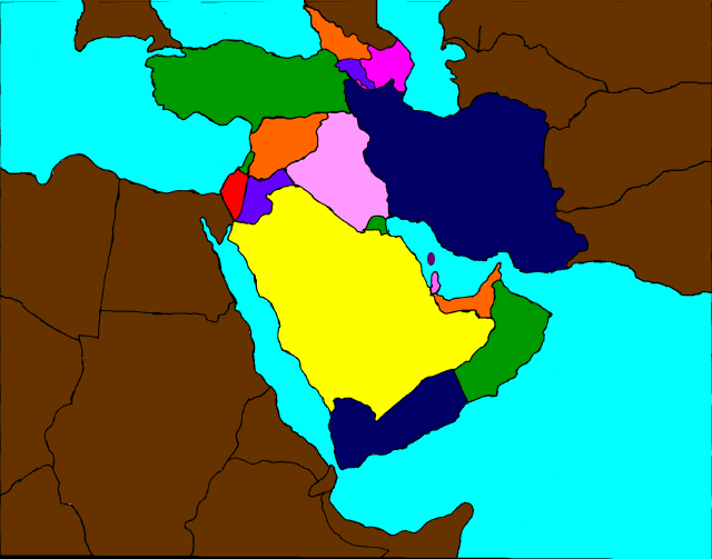 Middle East Map Study Aid  Mr Kriers History 7